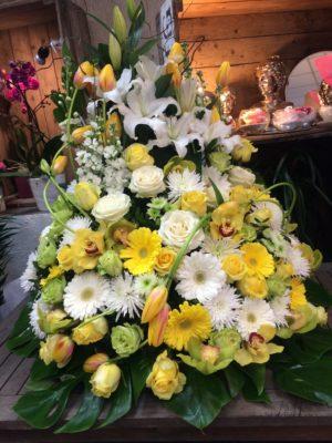 Devant de cercueil deuil